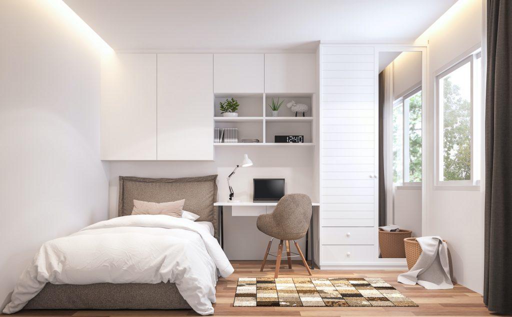 چگونه اتاق خواب خود را بزرگتر جلوه دهیم